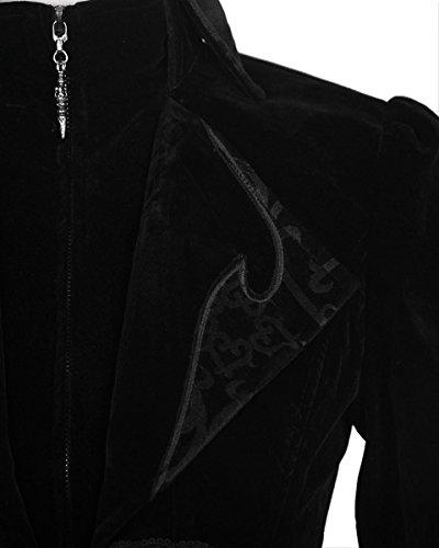 Regency color terciopelo Steampunk Juego chaqueta Devil perchero hombre para negro de fangbanger pared Fashion de Cavq8wx6a