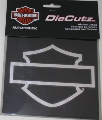 me Silhouette Bar & Shield Decal (Diesel Harley Davidson)
