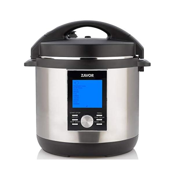 Zavor LUX LCD 6 Quart Programmable Electric Multi-Cooker: Pressure Cooker, Slow Cooker, Rice Cooker, Yogurt Maker… 1