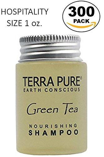 Terra Pure Green Tea Shampoo, 1 oz. In Jam Jar With Organic Honey And Aloe Vera (Case of - Case Honey Green