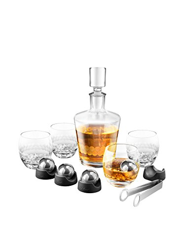 On The Rock Glass & Ice Ball Set (15 Pieces) by Final Touch