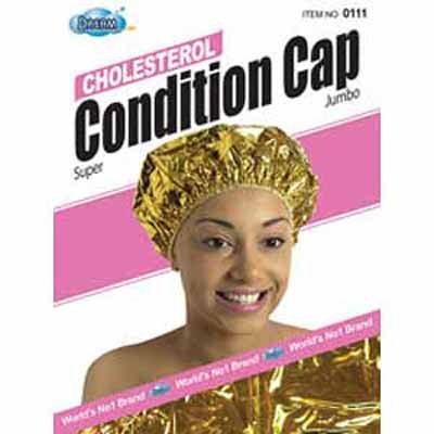 UPC 843632021759, Dream Cholesterol Conditioning Cap Gold, One size fits all, cholesterol processing, special coating, body heat, natural heat, vinyl material, hair conditioner