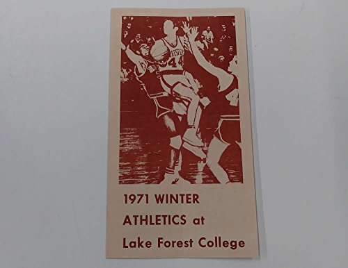Lake Forest College Winter Athletics Sports Basketball 1971 Booklet - Md Lake Forest