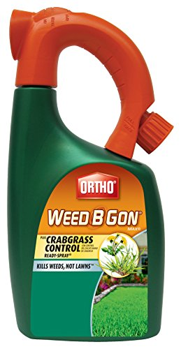 Ortho Weed B Gon Weed Killer for Lawns Plus Crabgrass Control Ready-Spray Hose End Attachment, 32-Ounce (Not Sold in HI, NY) Ortho Weed B-gon