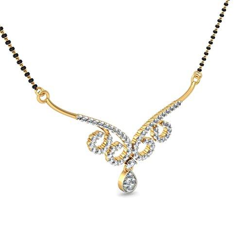 Or jaune 18K 0.8CT TW White-diamond (IJ | SI) Mangalsutra