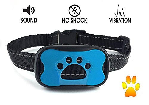No Bark Dog Collar – No Harm Pain- No Shock – Anti-Bark Static Vibration & Warning Sound Stops Barking – Features 7 Sensitivity Adjustable Control Levels For Training -Small, Medium, Large Dogs