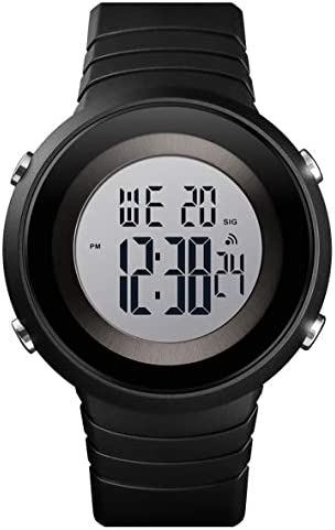 Tonnier Watch Men Outdoor Watches Digital Sport Watches Chrono Wristwatches LED Display Alarm Clock Waterproof Watches with Silicone Band