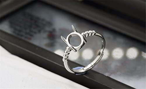 Luoyi Sterling Silver Ring Blank Platinum Plated Claw Ring (R070B)