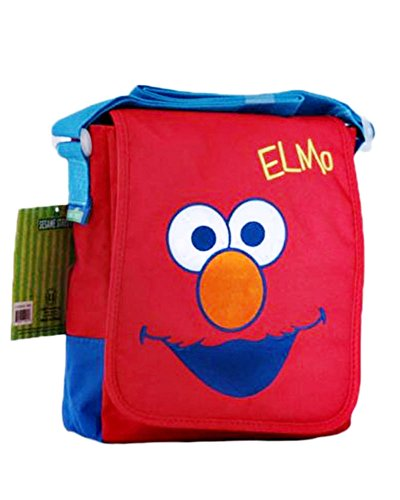Borsa tracolla Elmo 1Sesamo apriti–Borsa Tracolla Sesame Street per donna e bambini–Rosso–�?5x 20x 6cm