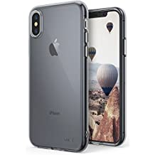 Apple iPhone X Case Ringke [AIR][Smoke Black] Weightless as Air, Extreme Lightweight Transparent Soft Flexible TPU Scratch Resistant Protective Case for Apple iPhone 10