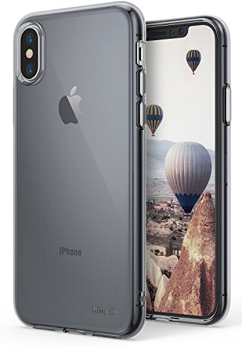 Ringke [AIR][Smoke Black] Weightless as Air, Extreme Lightweight Transparent Soft Flexible TPU Scratch Resistant Protective Case for Apple iPhone 10 ()
