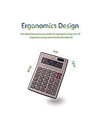 Calculadora, pantalla LCD grande, calculadora solar de 12 dígitos, función estándar, calculadora electrónica de escritorio.