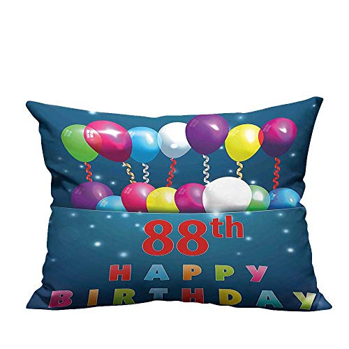 YouXianHome Zippered Pillow Covers Ornamental Surprise Party Balloons Cheerful Event Artistic Print Decorative Couch(Double-Sided Printing) 19.5x54 inch