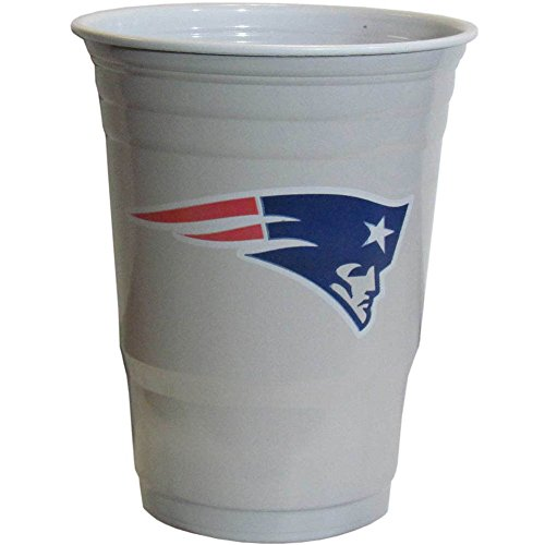 NFL New England Patriots  Plastic Game Day Cups 2 Sleeves of 18 (36 Cups) (Game Day Cup)