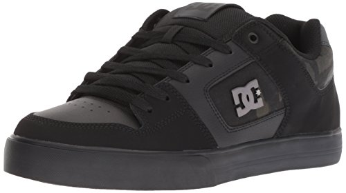 (DC Men's Pure SE Skate Shoe, Black, 10.5 Medium US)