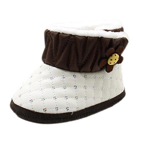 Tefamore Botas bebes de nieve de antideslizante de sole suave de moda invierno de calentar Café