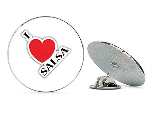 I Love Salsa Dance Round Metal 0.75
