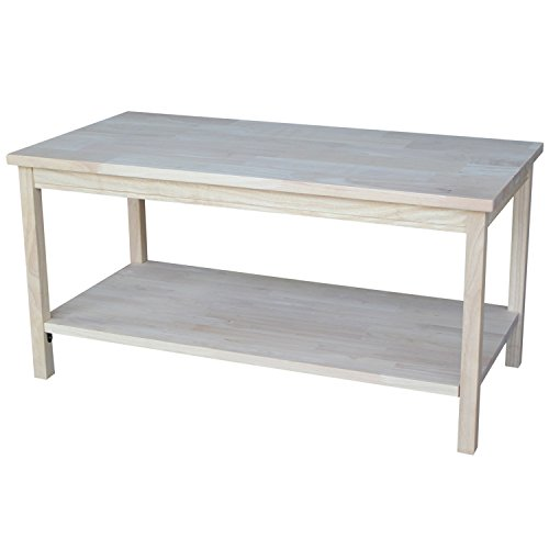 International Concepts OT-44 Portman Coffee Table Unfinished