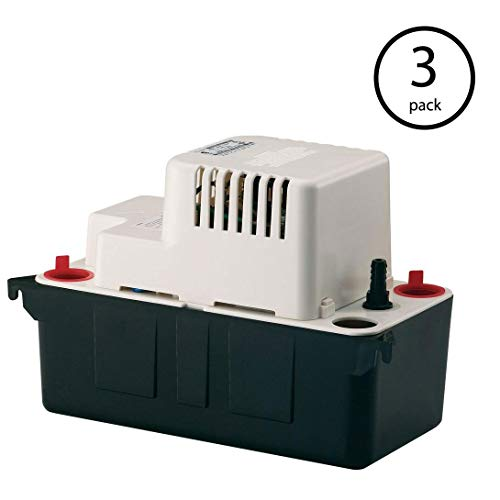Little Giant VCMA-20UL 115V 80 GPH Vertical Centrifugal Condensate Pump | 554421 (3 Pack)