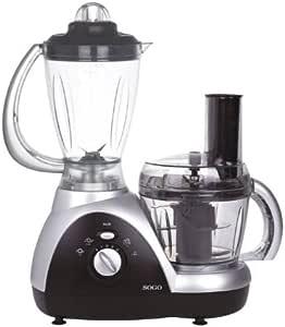 Sogo SS-5060 - Robot de cocina multifunción, color negro y plateado: Amazon.es: Hogar