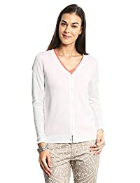 Dockers Suéter V-Neck Cardigan Paper White Playera para Mujer