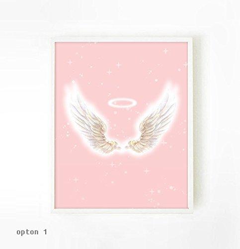 Amazon.com: Girl Room Decor, Nursery Decor, Angel Wing, Wall Art For ...