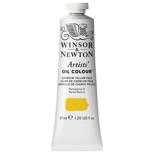Winsor & Newton Artists Oil Color Paint Tube, 37ml, Cadmium Yellow Pale (Oil Colors Cadmium Yellow Pale)