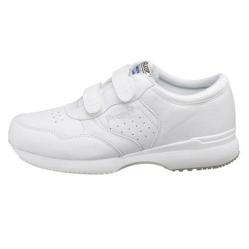 Propet Men's Life Walker Strap Sneaker,White,13 M (US Men's 13 D)