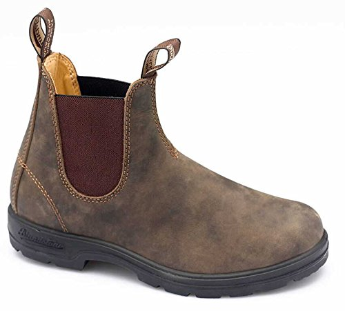 Blundstone 585 - Rustic Brown Leather Pull-On Gore Boot - Size: 6