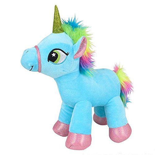 Sparkling Rainbow Unicorn Plush Stuffed Animal Toy - 13 Inches