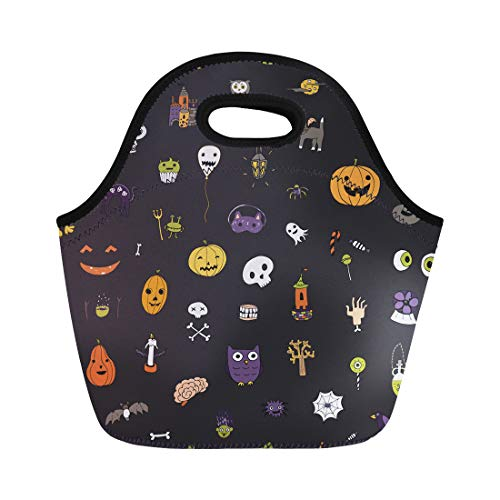 Semtomn Neoprene Lunch Tote Bag Pattern and Halloween