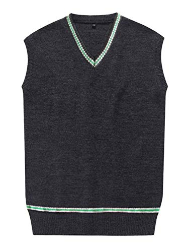 Amayar Cosplay Costumes unisex Sweater Fall and Winter Vest Waistcoat, Green Sweater, Small -