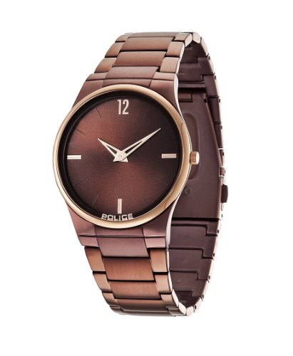 Police 12744JRSBR-61M Mens Horizon Brown Steel Watch
