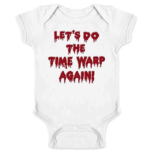 Pop Threads Let's Do The Time Warp Again! Halloween Costume White 18M Infant Baby Boy Girl Bodysuit