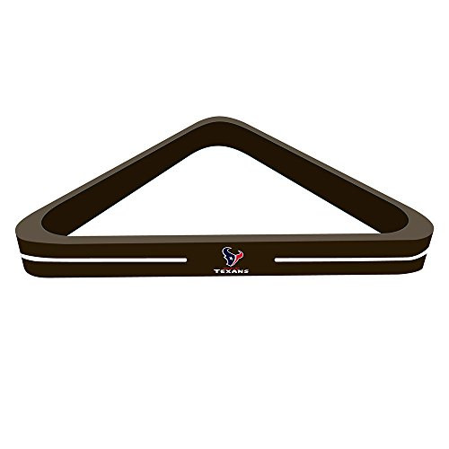 Imperial Officially Licensed Nfl Merchandise  Wood Triangle Billiard Pool Ball Rack  Houston Texans