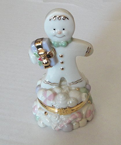Lenox Sweet Surprise Gingerbread Man Treasure Box For Trinkets & Keepsakes