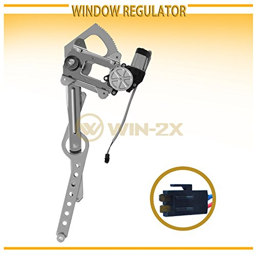 WIN-2X New 1pc Front Driver (Left) Side Power Window Regulator & Motor Assembly Fit 88-02 Chevy/GMC C10 C/K Truck 92-99 Suburban 92-94 Blazer 92-99 Tahoe/Yukon 00 5.7L V8 99-00 Cadillac Escalade