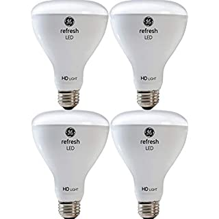 GE Lighting Refresh HD LED Light Bulbs, 65W Replacement, BR30 LED Floodlight, 4-Pack, Daylight, Dimmable Flood Light Bulbs, Indoor, Medium Base