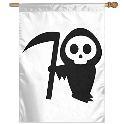 YUANSHAN Single Print Home Garden Flag Halloween Pumpkin Stencils Witch Polyester Indoor/Outdoor Wall Banners Decorative Flag 27
