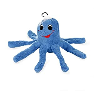 Amazon.com: Krislin Plush Octopus Toy, Blue: Pet Supplies