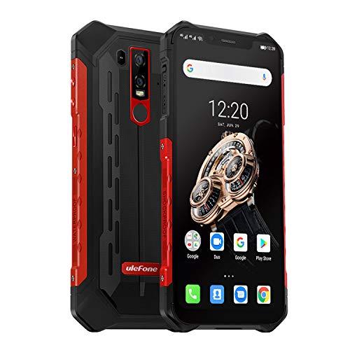Ulefone Armor 6S (2019) Outdoor Smartphone mit Qi fähig, 6GB RAM + 128GB interner Speicher Helio P70 Android 9.0 Handy…
