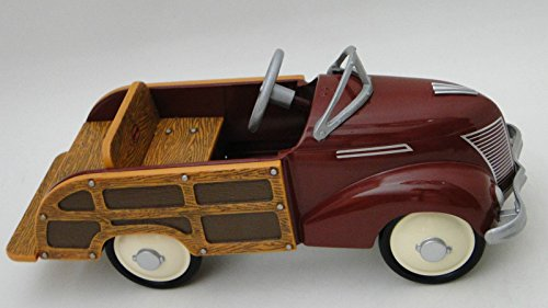 High End Collector Pedal Car 1930 1940 Ford Antique Vintage 1 Sport Truck 24 Rare Woody Woodie Pickup Wagon 18 Model T Investment Grade Classic Museum Quality Metal Collectible NOT A Child Ride On Toy -