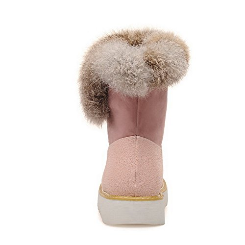 Women's Assorted and Low Frosted Colors Allhqfashion Velvet Heels Xi Shi Boots Pink with dvnz1W