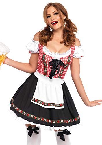 Leg Avenue Womens Beer Garden Babe Oktoberfest Costume, Multi, X-Large
