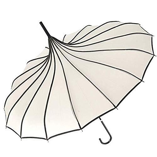 VIVI SKY(TM Pagoda Peak Old-fashionable Ingenuity Umbrella Parasol (Ivory) -