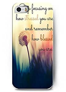 For iphone 6 plus 5.5 Case Inspirational and motivational life quotes Stop focusing on how stressed you are and remember how blessed you are - Thin Hard Plastic Case Cover Protection for For iphone 6 plus 5.5