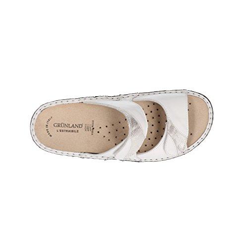 Grünland Retro Dara Sul Aperte Pantofole Bianco Donna xfxU6