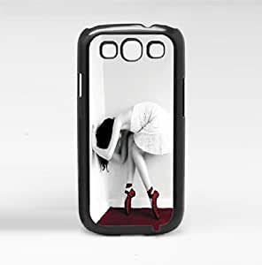 Black and White Ballerina Dancing in Red Ballet Shoes Hard Snap on Phone Case (Galaxy s3 III)