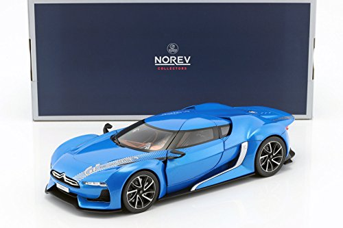 NEW 1:18 W/B NOREV COLLECTION - CITROEN GT CONCEPT ELECTRIC BLUE Diecast Model Car By Norev