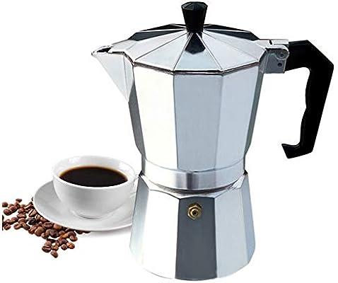 Cafetera de aluminio octogonal Cafetera con 6 tazas de café espresso superior Moka Percolador de café para Barista Tool 290 Ml,Gray: Amazon.es: Hogar